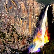 Bridalvail Falls Yosemite National Park Art Print
