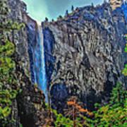 Bridalveil Falls In Yosemite Valley Art Print