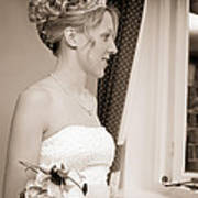 Bride Awaits Her Groom Art Print