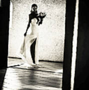 Bride. Black And White Art Print