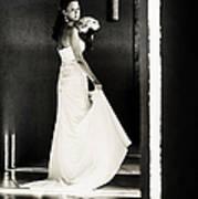 Bride I. Black And White Art Print