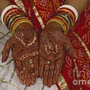Brides Hands India Art Print