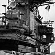 Bridge And Flight Deck Island On The Uss Intrepid New York Art Print
