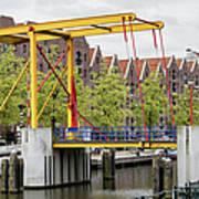 Bridge And Houses On Entrepotdok In Amsterdam Art Print