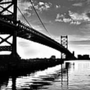 Bridge At Dawn Art Print