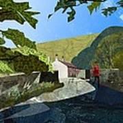 Bridge At Froggatt Art Print by Kenneth North