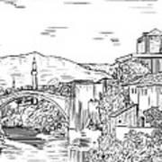 Bridge At Morstar Art Print