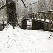 Bridge At Old Mine Park Art Print