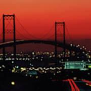 Bridge At Sunset Art Print