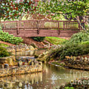 Bridge At Shelton Vineyards Art Print