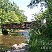 Bridge At Waubonsie Creek Art Print