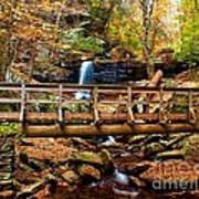 Bridge By B Reynolds Falls Art Print