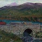 Bridge By Reservoir Art Print