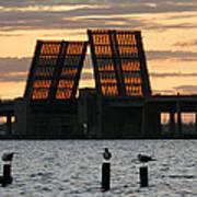 Bridge Closed To Traffic  Art Print