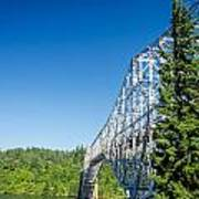 Bridge Connecting Oregon And Washington Art Print