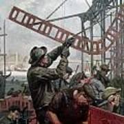 Bridge Construction 1909 Art Print