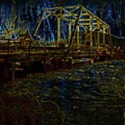 Bridge Crossing C. 1885 Glowing Edges Art Print