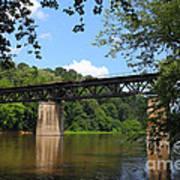 Bridge Crossing The Potomac River Art Print