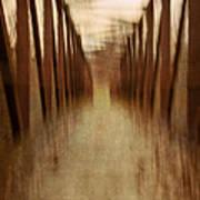 Bridge In Abstract Art Print