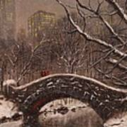Bridge In Central Park Art Print