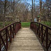 Bridge In Deep River County Park Northwest Indiana Art Print