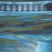 Bridge In Flood Stage Art Print