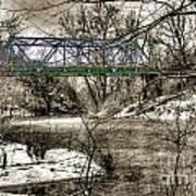 Bridge In Snow Art Print