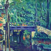 Bridge In The Forest By Cezanne Art Print
