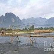 Bridge In Vang Vieng Laos Art Print