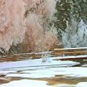 Bridge In Winter Art Print