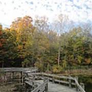 Bridge Into Autumn Print by Guy Ricketts
