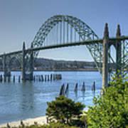 Bridge Newport Or 1 B Art Print