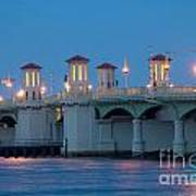 Bridge Of Lions At Dusk St Augustine Florida Art Print