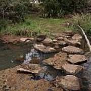Bridge Of Rocks Across The River Art Print
