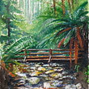 Bridge Over Badger Creek Art Print