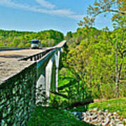 Bridge Over Birdsong Hollow At Mile 438 Of Natchez Trace Parkway-tennessee Art Print
