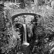 Bridge Over Falls Art Print