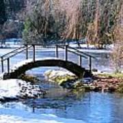 Bridge Over Ice N Snow Art Print