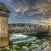 Bridge Over Icey Waters Art Print