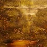 Bridge Over Muddy Waters- Original Sold - Buy Giclee Print Nr 35 Of Limited Edition Of 40 Prints   Art Print