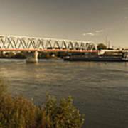 Bridge Over Rhein River Art Print