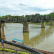 Bridge Over River Kwai In Kanchanaburi-thailand Art Print