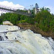Bridge Over Rushing Water Art Print