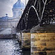 Bridge Over Seine In Paris Art Print