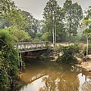 Bridge Over Siem Reap River On The Road Art Print