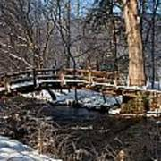 Bridge Over Snowy Valley Creek Art Print