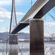 Bridge Over The Mist Art Print