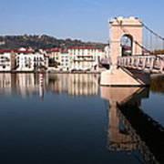Bridge Over The Rhone River Art Print