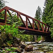 Bridge Over The Snoqualmie River - Washington Art Print