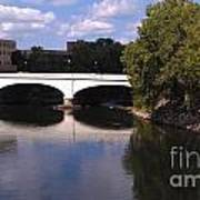 Bridge Over The St. Joseph River  --  South Bend Art Print by Anna Lisa Yoder